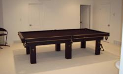 1 Inch Slate Includes: Snooker Balls, Eight Balls,  Billiard Balls, 9 Cues & Wall Rack, Rest, Score Board, 9 & 15 Ball Racks, Rule Book, Brush & Cue Repair Kit. All in Excellent Condition Call 780-831-7532
