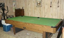 Looking to have an old pool table and ping pong table top removed from basement.   Willing to take offers.  Offer must include to remove table from current location.   Comes with pool balls, ping pong net and paddles.