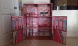Doll houses are constructed from soft, safe materials and can be assembled without any tools. 44''H x 31.5''W x 14''D