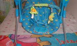 Portable brighter starts baby swing in excellent condition.