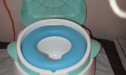 Childs Potty never used. My son would not use it. Also doubles as a foot stool.