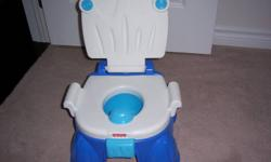 Clean and ready to go Fisher Price potty.  Rewards children with music when they go. Can also be used as a stepping stool.  South East end Barrie