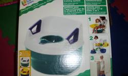 Someone gave us this potty training seat but we decided to go with something else so we never even used it.  Clean and comes with original box.  See pics.  Clean and pet free/smoke free home.  Email if interested.  Thanks!!