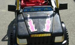 """POWER RIDER TOY CAR. Not in working condition. With manual and a new 6 Volt battery. 43 x 25 x 29 in. 109 x 63 x 74 cm. The $50.00 is to cover the price of the battery receipt included. Its a house number so texting will not work. """"""""DO NOT"""""""" CALL BEFORE 8"""