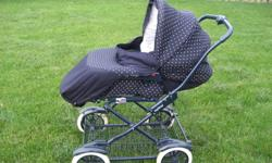 Preg-Prego Pram /Stroller   This stroller has very little use.  Only used a few times.  It is in EXCELLENT condition.  Stroller easily folds to compact size for trasporting and is very easy and smooth to push.    Removable pram to turn into stroller.