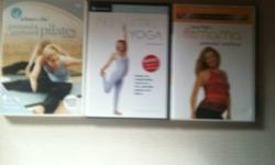I have three DVDs here for working out while pregnant. Pilates, yoga, and a prenatal workout. This ad was posted with the Kijiji Classifieds app.