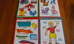PRESCHOOL PUZLES...4-6 pieces each...excellent condition...SMOKE FREE HOME....$5 for the lot...
