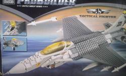 Pro Builder Mega Bloks TACTICAL FIGHTER Join the ranks of stealth tactical fighter pilots with this massive Mega Bloks model. Designed with more experienced builders in mind, this high-definition model comes with 525 pieces. Includes wing-mounted