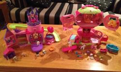 2 play sets of puppy castle and my little pony. Includes everything shown.