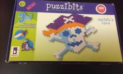 You can make a pirate, parrot or a sword with this great puzzle. In excellent condition.