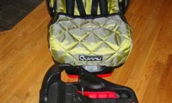 Quinny infant car seat expires in June of 2013. Comes with two bases. In excellent condition from a smoke free home/car. Also includes head rest and foot cover.  call 365-2301