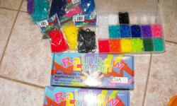 Complete Rainbow Loom rubber band sets. Used for a few weeks to make friend bracelets. Have 100s of mini rubber bands in a variety of colors. In the original boxes. Asking $25 for both sets and all the rubber bands!! Will sell sets individually if