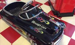 """Rare """"Snap on """" branded , new all steel pedal car. No longer avialable. Reminiscent of the good old days. Suitable for 2-5 years. Great collectible. Awesome birthday.gift. Best grandparent ever."""