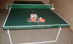 RC Prestige  Ping Pong Table   Top Quality.  Excellent condition.   5' wide x 9' long   Complete with 4 paddles  / 3 balls / spare  net   Folds up for single play or storage.  Castor wheels.   Paid almost $400 for it new   Selling for $240 firm   Will
