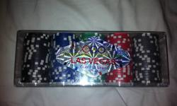 Real Las Vegas Poker Chips (New)   Case has never been opened   Authentic Poker Chips will make a Great Gift for the poker player in your family.    11.5 Gram Clay poker chips.   $25 OBO