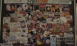 This is a really fun puzzle to do, lots of recognizable Hollywood stars, musicians, newsmakers, TV stars...the puzzle is called 20th Century Newsmakers, and looks like a news stand with papers and magazine covers from all the eras of the 20th century,