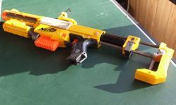 Recon Nerf gun; 5 pieces customizable gun with mag and darts