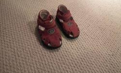 red sandles good condition size 21 on the shoe - equivilant to a 4 or 4 1/2 size please take a look at my other ads can pu in burnside or enfield area