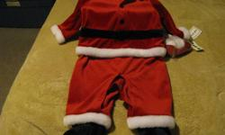 Santa Suit   *Brand New *Never Worn *6-9 Months *One Piece Body *Matching Santa Hat *Very Cute *Smoke Free Home *Pet Free Home   Thank you for your time