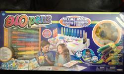 Blopens Mega Colouring Set!!! PERFECT XMAS GIFT !!! Colour with Air with the Blopens Mega Coloring Set! Each pen is a 2-in-1 Marker and Airbrush! With over 45 Pieces in each kit, you are bound to create an artistic masterpiece! Each kit includes 1