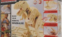 Robotime® Remote controlled Robotic 3D-puzzle Wooden DinosaursBuild your own T-Rex and watch it come to life! Children enjoy the activity of assembly and of course playing with all the various dinosaurs we have! T-Rex, Triceratops, Stegosaurus, Wooly