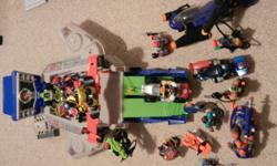 I have 18 rescue heroes figures and 15 additional accessories. It also comes with the Hyper Jet Head Quarters. i am also taking offers. you can also reach me on my cell after 4:00 pm till 9:00 pm and the # is 403-593-4442
