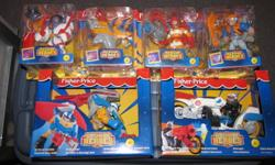 Tons of Fisher Price Rescue Heros - rescue station command centre, vehicles, figures, animals, & accessories.   These are great toys for young boys. Box says ages 3+, but my son enjoyed them until he was around 8.   Some of these are new in the