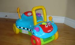 I am selling this ride on car. It can turn into an upright toy with a handle to help children learn how to walk. It is in excellent condition and I am selling it at best offer. **Check out my other ads