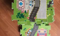 Foam click together road map. 18 squares.