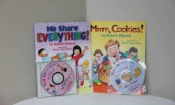 Titles * We Share Everything * Mmm Cookies Energetically read by Robert Munsch Printed in Canada. Like new.