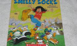 These Softcover Books by ROBERT MUNSCH are LIKE NEW, with slight wear to the corners of the cover, unless noted otherwise for $4.00/each **SMELLY SOCKS** **RIBBON RESCUE** **SEEING RED** All our items come from a smoke-free environment. **PICK-UP LOCATION