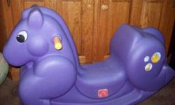 Step 2 Rocking Horse, Little Tikes Rocking Horse or Large Wooden Rocking Horse...(Prices as Marked in Ad)... Pic. #1. - Step 2 Rocking Horse, in excellent condition, $25 firm. ...View Map for Area... ...All communications through Emails only.... ...Pick