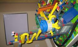 Two complete sets in excellent condition. Includes Monorail Metropolis Start Set (with train, elevator lift and sorter) as well as Conveyor Company Start Set (similar to Rok Works Construction and Action set) (with conveyor and loader) Total of two