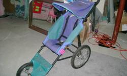 Running stroller in excellent condition; over $125 new.