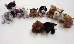 3 cats & 7 dogs $1 each or $5 for all ten. Children love to carry them around as they are perfect size for little hands. From a smoke and pet free home.