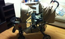 Double stroller needs to be cleaned works perfect This ad was posted with the Kijiji Classifieds app.