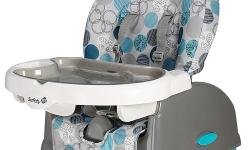 Safety 1st Booster Seat. Sits on to of a chair, with straps to the chair + child - helpful for small places that do not have room for a full high chair. Sorry -- table not available -- just the seat. For pickup 8pm May 22, 2016 ONLY from lobby of 352
