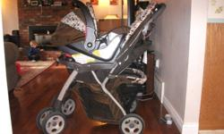 Safety 1st stroller and Carseat..manufacture date is October 2008. Comes with bar to connect the 2 and carseat base for the car. $75 OBO. Would be willing to sell seperate. .....REDUCED TO $60. I'm moving to Van very soon and desperately need to downsize!