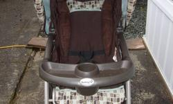 Safety 1st Travel System. Great condition, no accidents. Carseat (5-22lbs) good till end of 2014, comes with base and carseat adapter bar. This is in non heated storage at my Mom's house in Nanoose, it may need a wipe down. I don't want to see it get