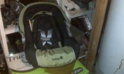 Safety 1st car seat 75.00 obo. Was bought in september. Never used just got one given to us.
