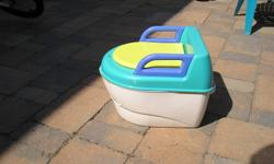 Safety first 3 in one potty.    Bottom converts into a step stool. It is missing the deflector shield. $5.00