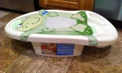 This bath is great for newborns. Can be used up to 6 months (17lbs) The sling can come off. There is a temperature strip on the bottom as well as a drain plug. I've used this bath probably 5 times at the MOST! we traveled a lot when my son was born and