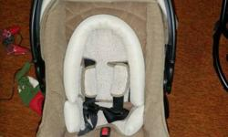 Safety first car seat 0-22lbs Exp April 2013. Great Condition, no accidents, comes with base and infant padding.