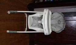 Green Winnie the Pooh high chair. Clean from smoke free home. Pick up only.
