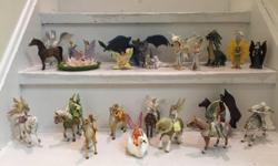 Large collection of beautiful Bayala figures, in good condition. These are high quality, hand-painted figures. This collection includes 25 sets (38 separate pieces), ranging in price from $15-50 new. These have been treasured for years, but hey...kids