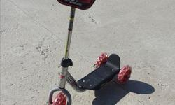 3 scooters for sale: 1) Cars scooter - $10 2) Pink scooter - $7 3) Disney Princess scooter - $15