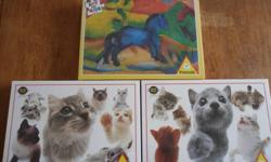 Collection of 3 sealed jigsaw puzzles for sale - great gift for a young child or a senior - made in Austria, these are high quality puzzles which have not been opened - they retail for about $10-12 each plus tax and shipping - $20 for all 3 puzzles. If