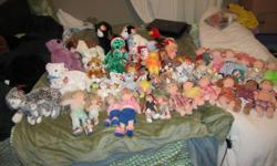 SELLING 30+ BEANIE BABIES/KIDS/BOPPERS $2 EACH   All are in mint condition. All come with tags attached. Almost all come with tag protectors. No stains/Wear n tear. Were Collection items. Smoke free/pet free.   I have lots of animals, dogs, cats, bunnies,
