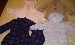 Set of 4 coats like new,bought from the Bay and Sears.ize 18 months