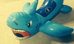 Great for the beach for 2-4 yr old to enjoy riding a blue shark.